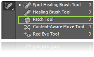 how to use patch tool ps